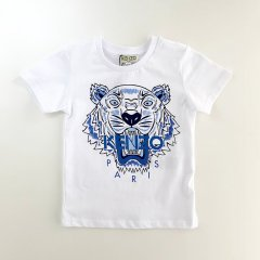KENZO TIGER JB PER1 OPTIC WHITE  ケンゾー タイガーTシャツ(ホワイト/ブルー)