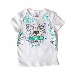 KENZO TIGER MB 1 OPTIC WHITE  ケンゾー タイガーTシャツ(ホワイト/グリーン)