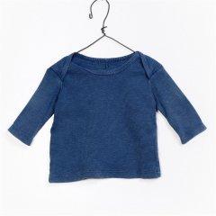 Play Up Flam_ RIB T-Shirt プレイアップ リブカットソー(ブルー)