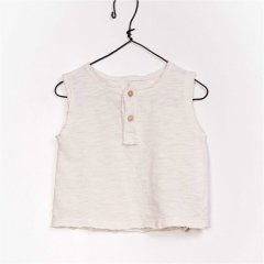 【SALE30%OFF】Play Up Flam_ Jersey Sleeveless T-shirt プレイアップ ヘンリーネックタンクトップ(アイボリー)