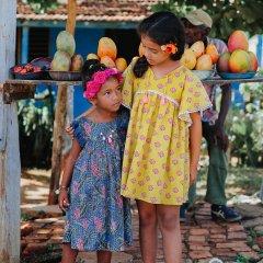 【SALE20%OFF】Louise  Misha Dress Costa Lagoon Leaves ルイーズミーシャ 袖フリンジワンピース(ラグーンリーブス)