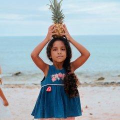 Louise  Misha Top Acacia Lagoon ルイーズミーシャ ノースリーブフレアブラウス(ビリジアンブルー)