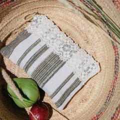 【SALE30%OFF】Louise  Misha Pocket Dominia Cream Stripes ルイーズミーシャ レース付ポーチ(ストライプ)