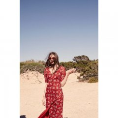 Louise  Misha Dress Stree Red Flowers ルイーズミーシャ ロングワンピース(レッドフラワー)