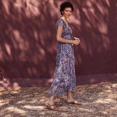 【SALE20%OFF】Louise  Misha Dress Plumeria Blue Flowers ルイーズミーシャ ロングワンピース(ブルーフラワー)