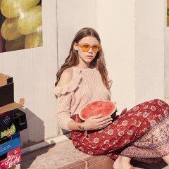 【SALE30%OFF】Louise  Misha Skirt Mimila Red Flowers ルイーズミーシャ ラップスカート(レッドフラワー)