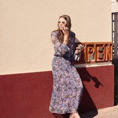 【SALE30%OFF】Louise  Misha Skirt Bora Blue Flowers ルイーズミーシャ ロングスカート(ブルーフラワー)