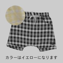 【SALE20%OFF】tocoto vintage Vichy squares baby bermudas YELLOW トコトヴィンテージ チェックショートパンツ(イエロー)