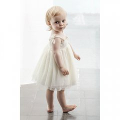 tocoto vintage Tulle baby dress OFF-WHITE トコトヴィンテージ チュールベビードレス(オフホワイト)