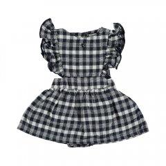 tocoto vintage Vichy squares sleeveless body dress NAVY トコトヴィンテージ チェックノースリーブボディドレス(ネイビー)