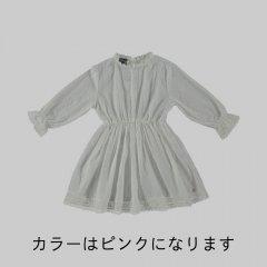tocoto vintage Plumeti lace dress PINK トコトヴィンテージ 長袖レースドレス(ピンク)