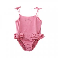 【SALE30%OFF】tocoto vintage Rainbow symphony swimsuit PINK トコトヴィンテージ 肩紐スイムウェア(ピンク)