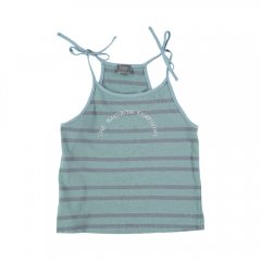 tocoto vintage Bow shoulders striped tank top GREEN トコトヴィンテージ ストライプ肩紐キャミソール(グリーン)