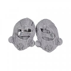 tocoto vintage Crochet mouse booties GREY トコトヴィンテージ マウスブーティ(グレー)