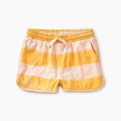 Tea Collection Pom Pom Dolphin Shorts Painted Stripe- ティコレクション ポンポン付きショートパンツ(ピンク/オレンジ)