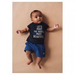 kids case Hunter organic baby print t-shirt 190.dark blue キッズケース グラフィックプリントTシャツ(ダークブルー)