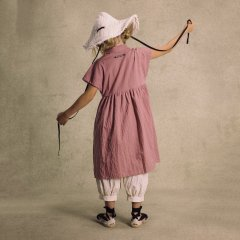Little Creative Factory Washi dress 117.Mauve 襟付きワンピース(モーヴ)