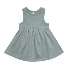 Quincy Mae Ribbed Tank Dress Sea ノースリーブワンピース(シー)