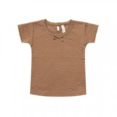 【SALE20%OFF】Quincy Mae Pointelle Tee Copper クインシーメイ Tシャツ(コッパー)