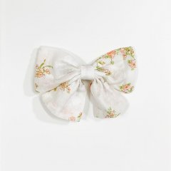 la petite blossom BABY BOW PRAIRIE ラ プティ ブロッサム 花柄ヘアピン(オレンジ/S)