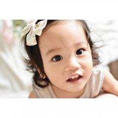 【SALE20%OFF】la petite blossom GIRL BOW PRAIRIE ラ プティ ブロッサム 花柄ヘアピン(オレンジ/L)