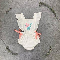 【SALE20%OFF】la petite blossom BOUQUET ROMPER off white ラ プティ ブロッサム 刺繍ロンパース(ホワイト)
