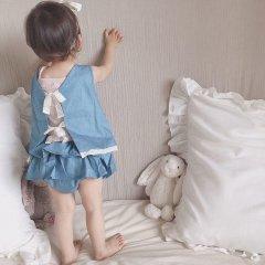 【SALE30%OFF】la petite blossom NUBE PANTIES jeans ラ プティ ブロッサム バックフリルブルマジーンズ)
