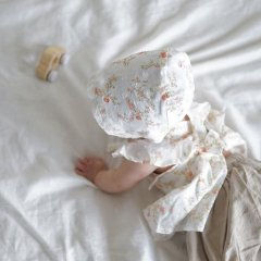 【SALE30%OFF】la petite blossom PRAIRIE BONNET Liberty ラ プティ ブロッサム 花柄ボンネット(オレンジ)