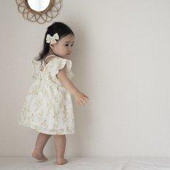 la petite blossom PRAIRIE DRESS Liberty ラ プティ ブロッサム 花柄ワンピース(イエロー)