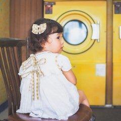 【SALE30%OFF】la petite blossom AVENA off white ESPIGABABY DRESS ラ プティ ブロッサム ベビードレス+ブルマセット(チェック)