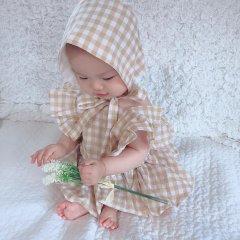 【SALE20%OFF】la petite blossom ESPIGABONNET ラ プティ ブロッサム チェック柄ボンネット