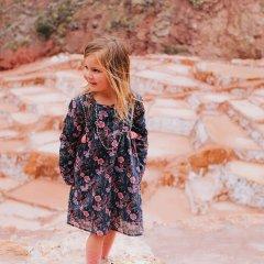 Louise Misha Baby Dress Roulotta Storm Flowers ルイーズミーシャ 花柄長袖ワンピース(ストームフラワー)