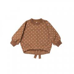 Rylee + Cru celestial cinched sweatshirt caramel ドット柄長袖スウェット(キャラメル)