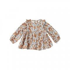 Rylee + Cru bloom piper blouse bloom コットンクレープ長袖ブラウス(花柄)