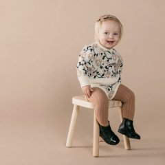 Rylee + Cru solid ribbed tights caramel リブタイツ(キャラメル)