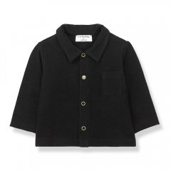 1 + in the family LUGO shirt black 長袖シャツ(ブラック)