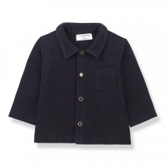 1 + in the family LUGO shirt dark blue 長袖シャツ(ダークブルー)