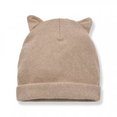 1 + in the family PARIS beanie w/ears beige ねこ耳キャップ(ベージュ)