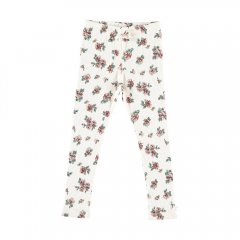 tocoto vintage Baby Flower print ribbed leggings OFF-WHITE トコトヴィンテージ 花柄リブレギンス(オフホワイト)