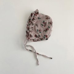 tocoto vintage Flower print bonnet PINK トコトヴィンテージ 花柄ボンネット(ピンク)