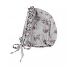 【SALE20%OFF】tocoto vintage Flower print bonnet GREY トコトヴィンテージ トコトヴィンテージ 花柄ボンネット(グレー)