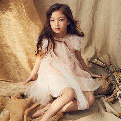 LOVE by Nellystella Baby Antoinette Dress Pink Lemonade ラブバイネリーステラ アントワネットドレス(ピンクレモネード)