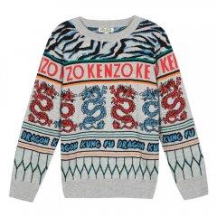 KENZO GODFREY MARL GREY ケンゾー セーター(グレー)