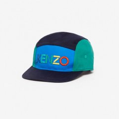 KENZO LOGO JB NAVY ケンゾー カラーブロックキャップ(ネイビー)