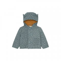 Soft Gallery Enver Jacket Stormy Sea, AOP Evergreen ソフトギャラリー  耳付きジャケット(ストーミーシー)