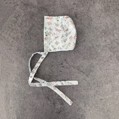 la petite blossom Garden Bonnet ラ プティ ブロッサム 花柄ボンネット(ライトブルー)