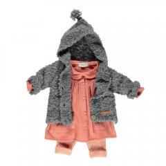 piupiuchick Baby dress peter pan coral cotton gauze ピゥピゥチック 襟付き長袖ワンピース(コーラル)