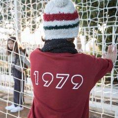 piupiuchick Sweatshirt cotton fleece bordeaux ピゥピゥチックオーバーサイズスウェット(ボルドー)