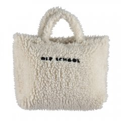 【SALE30%OFF】piupiuchick Faux fur XL bag ecru with logo embroidered ピゥピゥチック ボアトートバッグ(オフホワイト)