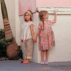 Louise Misha Baby Dress Tapalpa Sienna Flamingo ルイーズミーシャ 半袖ワンピース(フラミンゴ)